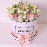 Classic Collection - Medium - Rose Lilla Bianche Rosa - Scatola Bianca