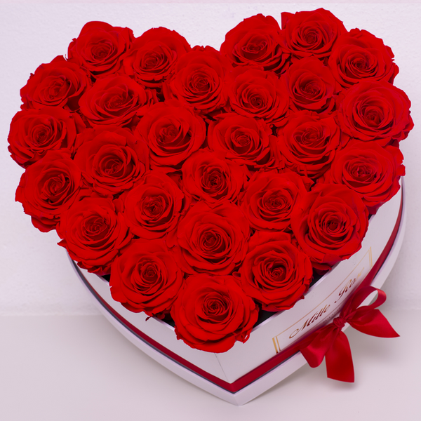 Senza Tempo - Love Collection - Rose Rosse - Scatola Bianca