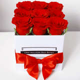 Classic Collection - Cube - Rose Rosse - Scatola Bianca
