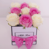 Classic Collection - Cube - Rose Rosa e Bianche - Scatola Bianca