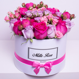 Classic Collection - Medium - Rose Mix Rosa - Scatola Bianca