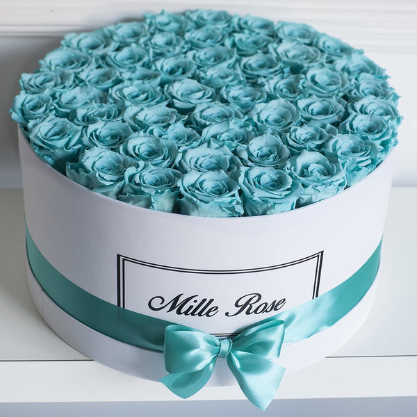 Mille Rose Collection - Senza Tempo - One Million Box - Rose Tiffany - Scatola Bianca