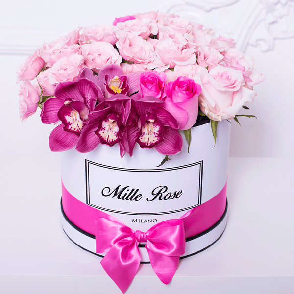 Classic Collection - Medium- Rose Mix Ortensie - Scatola Bianca
