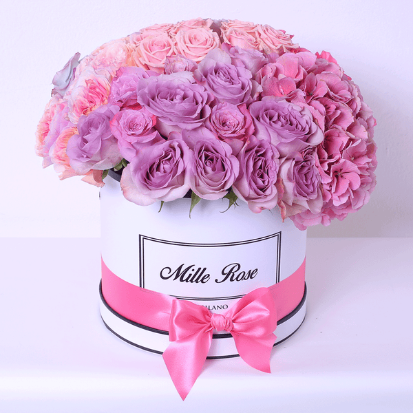 Classic Collection - Medium - Rose Mix Sfera e Ortensie - Scatola Bianca