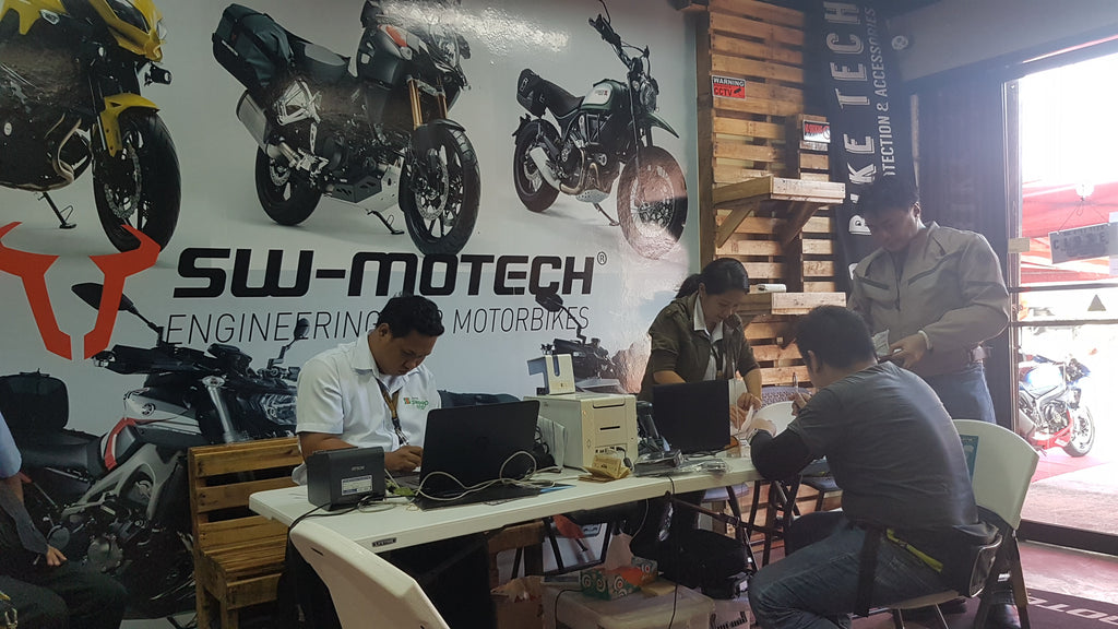 Autosweep RFID Installation at Big Bike Tech 2016