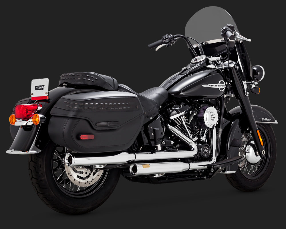 Vance & Hines Eliminator 300 Slip-Ons Chrome 40th Anniversary Edition Deluxe and Heritage Classic