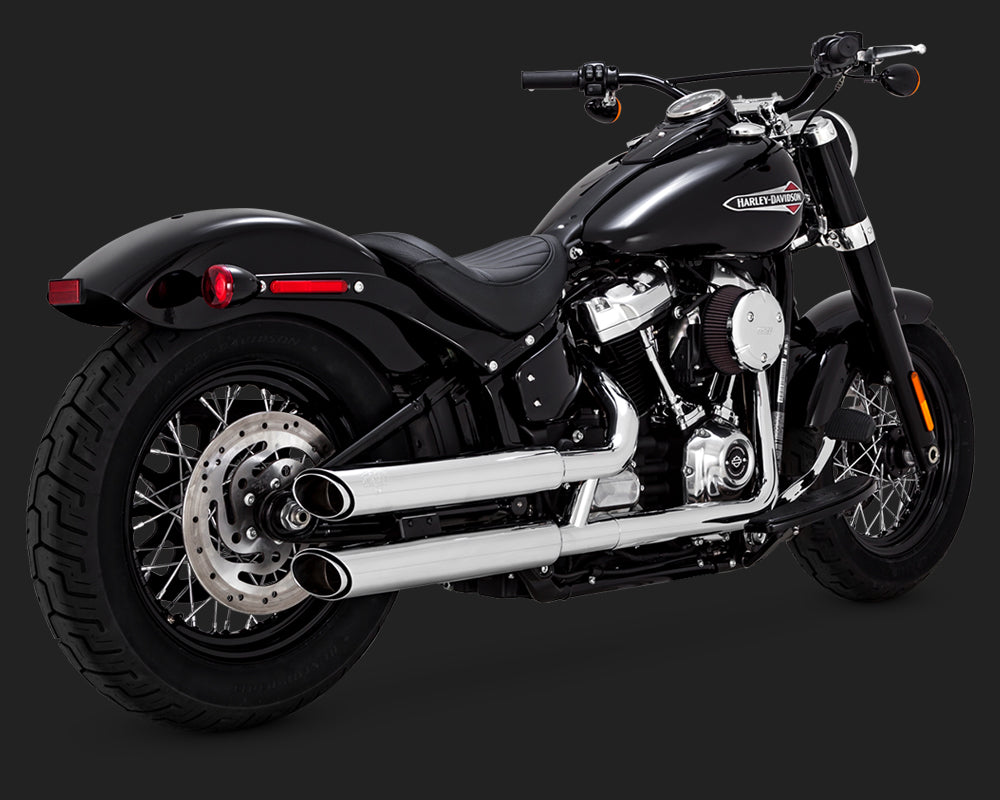 Vance & Hines Twin Slash 3-Inch Slip-On Chrome