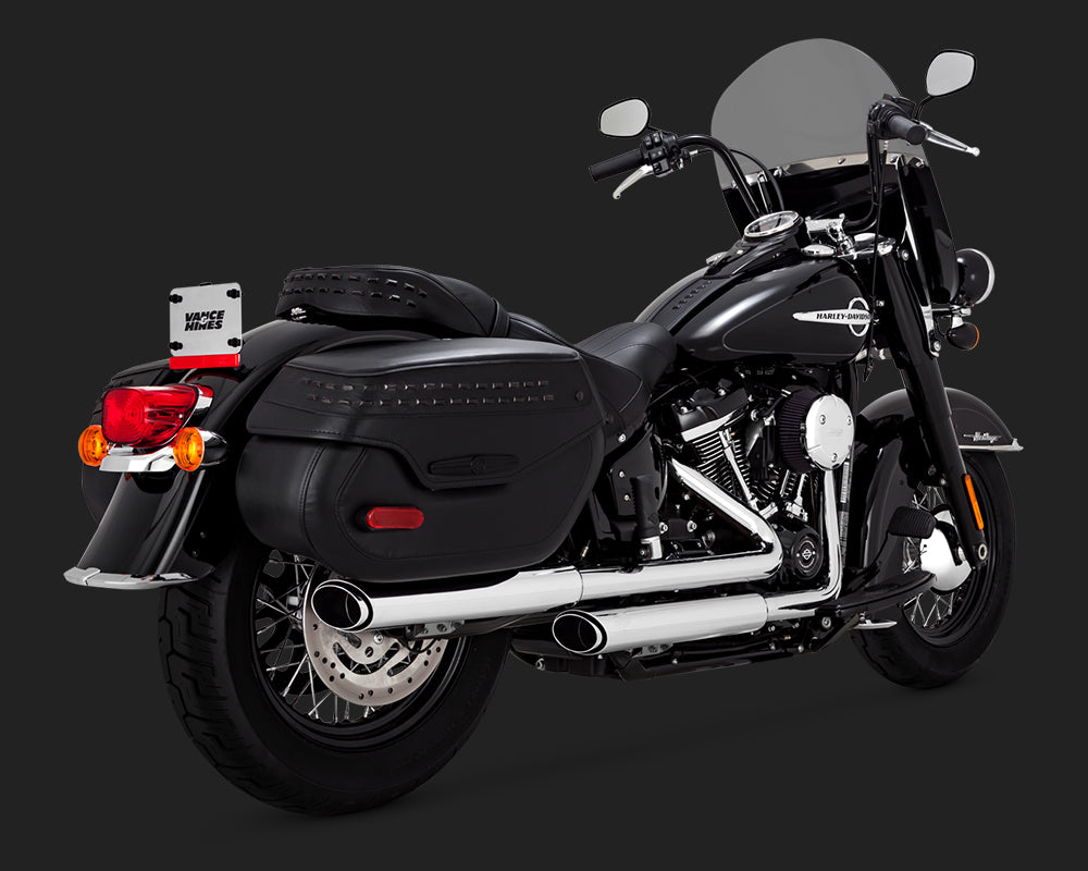 Vance & Hines Twin Slash Slip-Ons Chrome for Softail Deluxe and Heritage