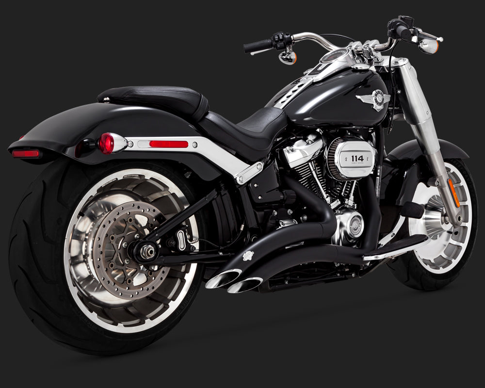 Vance & Hines Big Radius 2-Into-2 Black