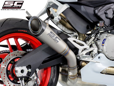 SC Project S1 Exhaust Titanium with carbon cap Slip On