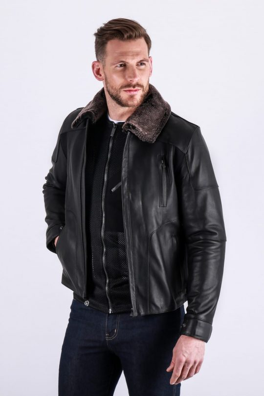 Knox Ford Leather Jacket Black