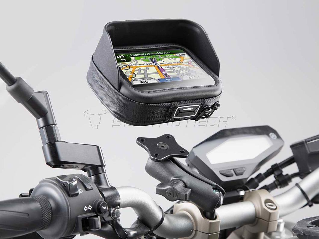 SW Motech Universal GPS mount kit with Navi Case Pro L