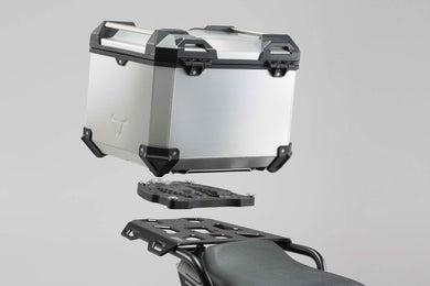 SW Motech TRAX ADV top case system Silver