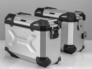 SW Motech TRAX ADV Pannier System 37L Left and Right Silver