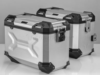SW Motech TRAX ADV Pannier System 45L Left and Right Silver