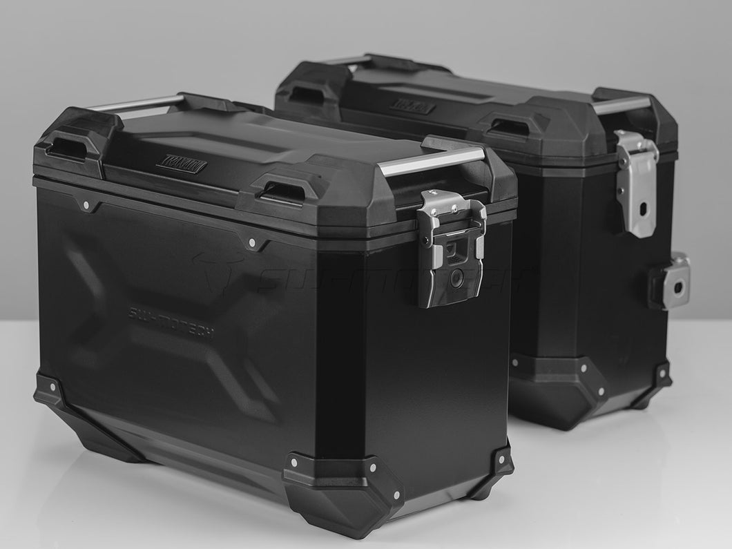 SW Motech TRAX ADV Pannier System 37L Left and 45L Right Black