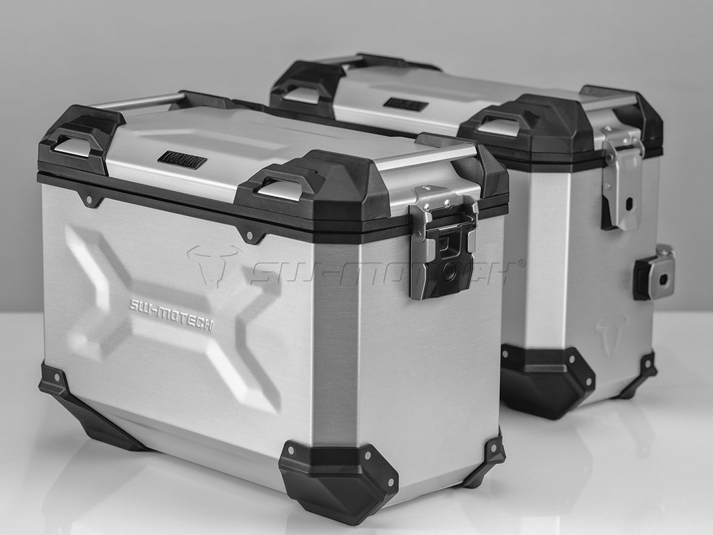 SW Motech TRAX ADV Pannier System Silver 37L Left and 45L Right