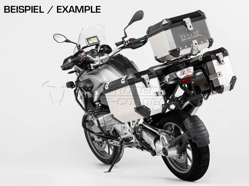 SW Motech TraX EVO Pannier System Silver 45L Left and 37L Right