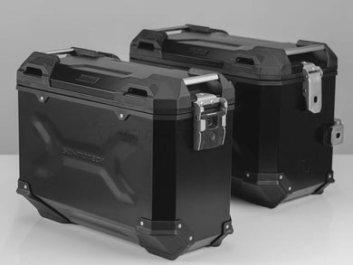 SW Motech TRAX ADV Pannier System Black 45L Left and 37L Right