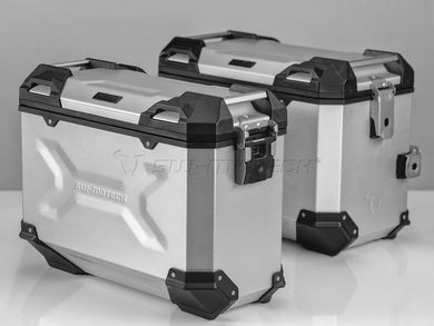 SW Motech TRAX ADV Pannier System Silver 45L Left and 37L Right