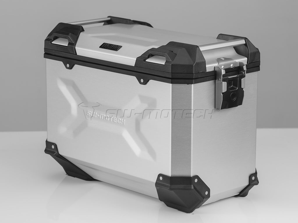 SW Motech TRAX ADV Pannier System Silver 45L Left and Right