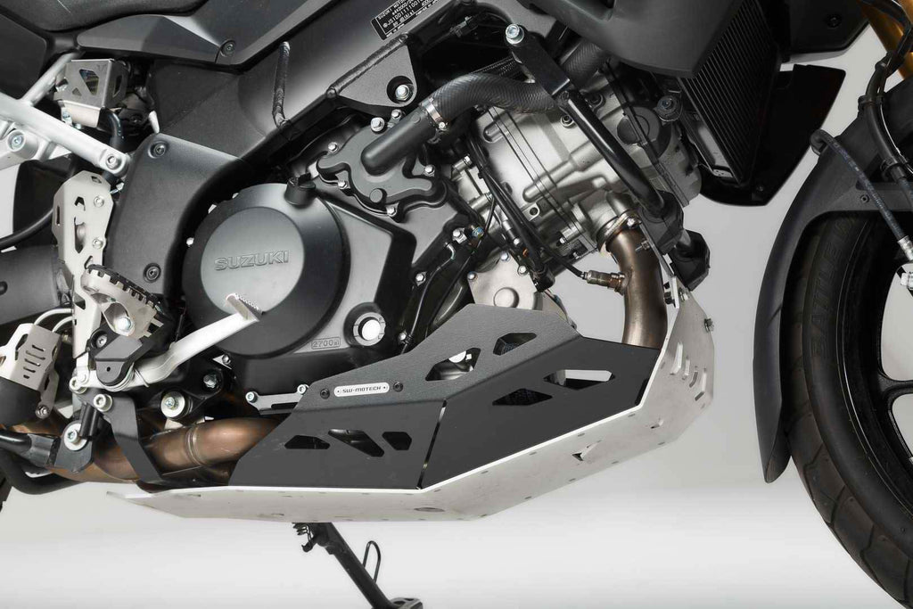 SW Motech Engine guard Black and Silver Models without Crashbar