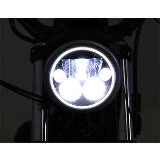 "DENALI M5 DOT LED Headlight Module 5.75"" Black Chrome"