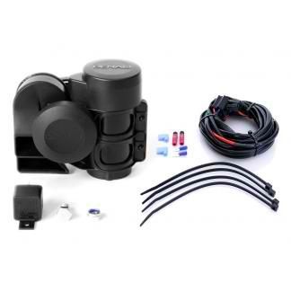 DENALI SoundBomb Compact Dual-Tone Motorcycle Air Horn Kit with Horn and Wiring Harness