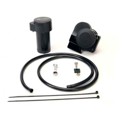 DENALI SoundBomb Split Dual-Tone Motorcycle Air Horn Kit with Horn and Wiring Harness