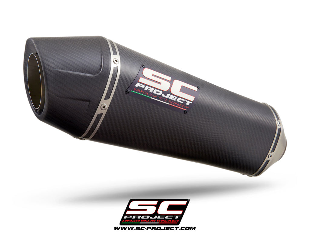 SC Project X-Plorer II GT Muffler Titanium With Carbon Fiber End Cap