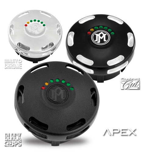 Performance Machine Apex Fuel Caps with LED Gauge