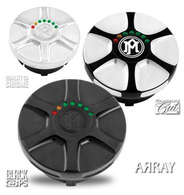 Performance Machine Array Fuel Caps with LED Gauge