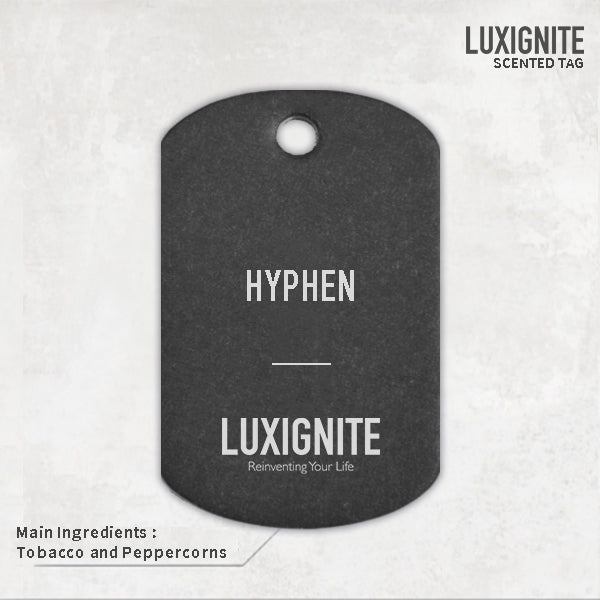 Scented Car tag with Military tag (The Hyphen)