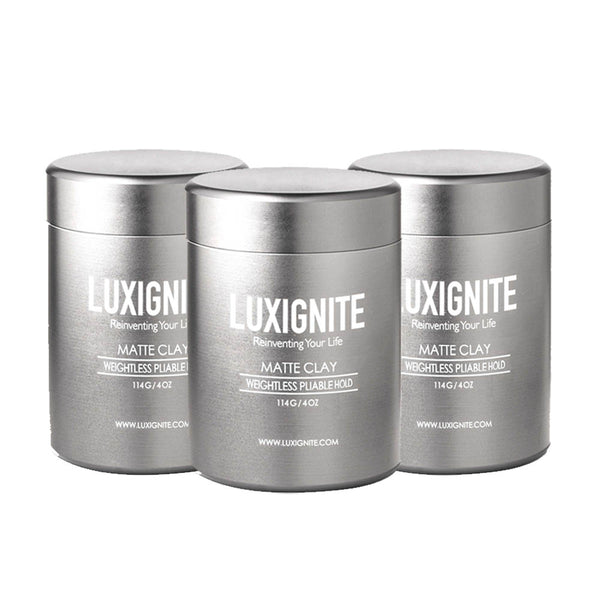 Bundle High Hold & Matte Finish │ Water based Matte Clay│+ Solid Cologne Luxignite 3pcs