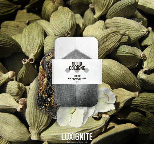 Luxignite|Black Cardamon Dark Orchid|Organic Solid Cologne(ELLIPSIS)