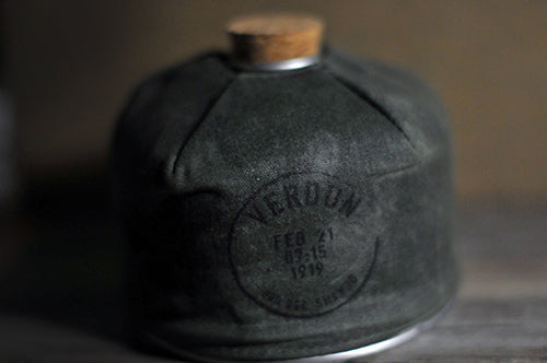 Luxignite Waxed Canvas Gas Canister Cover Military Candle Verdun The Smell of war