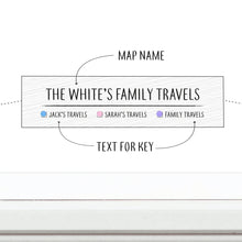Personalised White Pinboard World Map