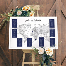 Wedding Table Plan - Personalised Map Of The World