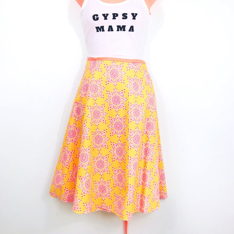 Midi Wrap Skirt- sunrise