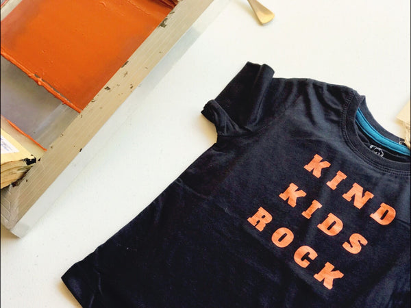 New Black Kids organic printed tee- Kind Kids Rock