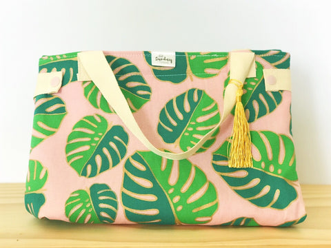 Handmade Lunch Bag -paradise palms