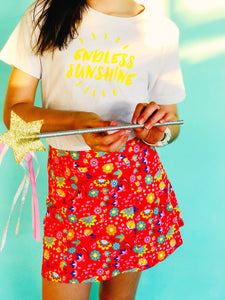 Sunshine skirts ~ fiesta red