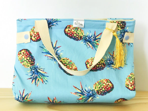 Handmade Lunch Bag - pina colada