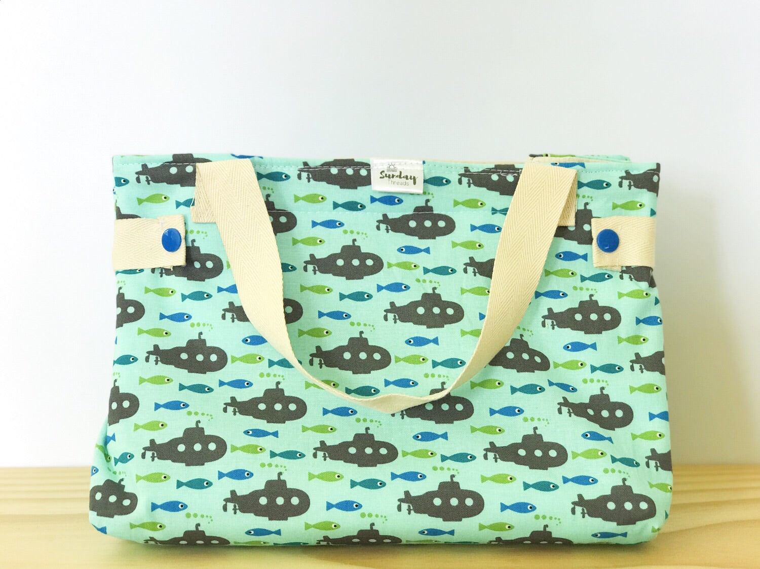 Handmade Lunch Bag - underwater adventures