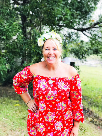 Noosa Sunday Dress- fantastic red