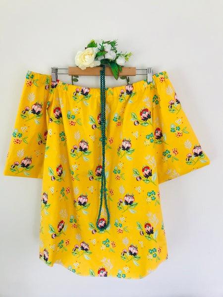 Noosa Sunday Dress- sunshine yellow