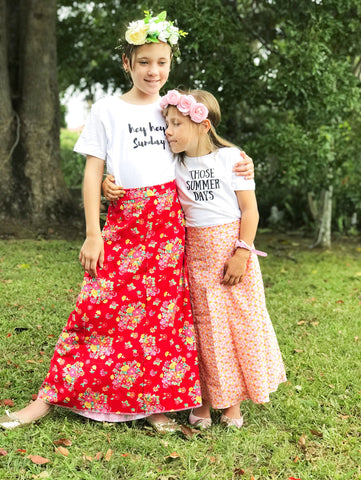 Girls boho maxi - red Havana