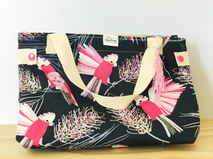 Handmade Lunch Bag -Galah