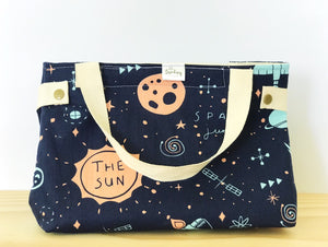 Handmade Lunch Bag - space explorer