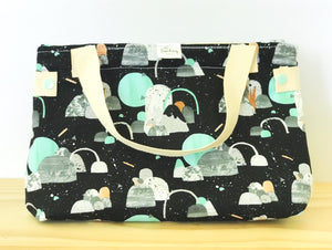 Handmade Lunch Bag - night seeker